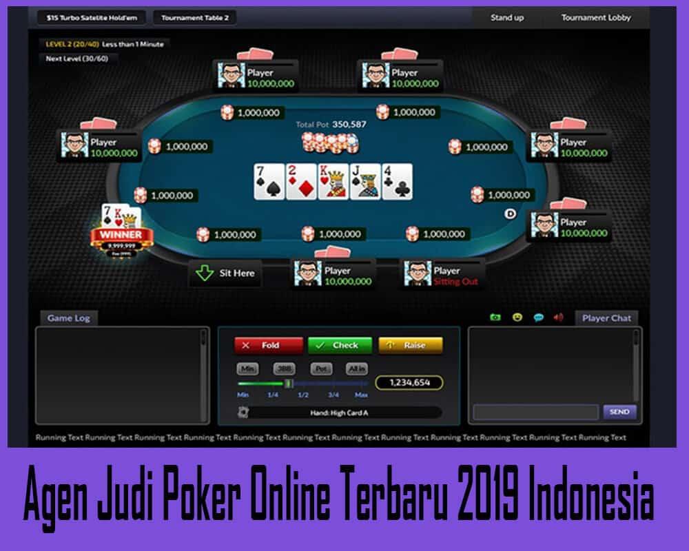 Agen Judi Poker Online Terbaru 2019 Indonesia
