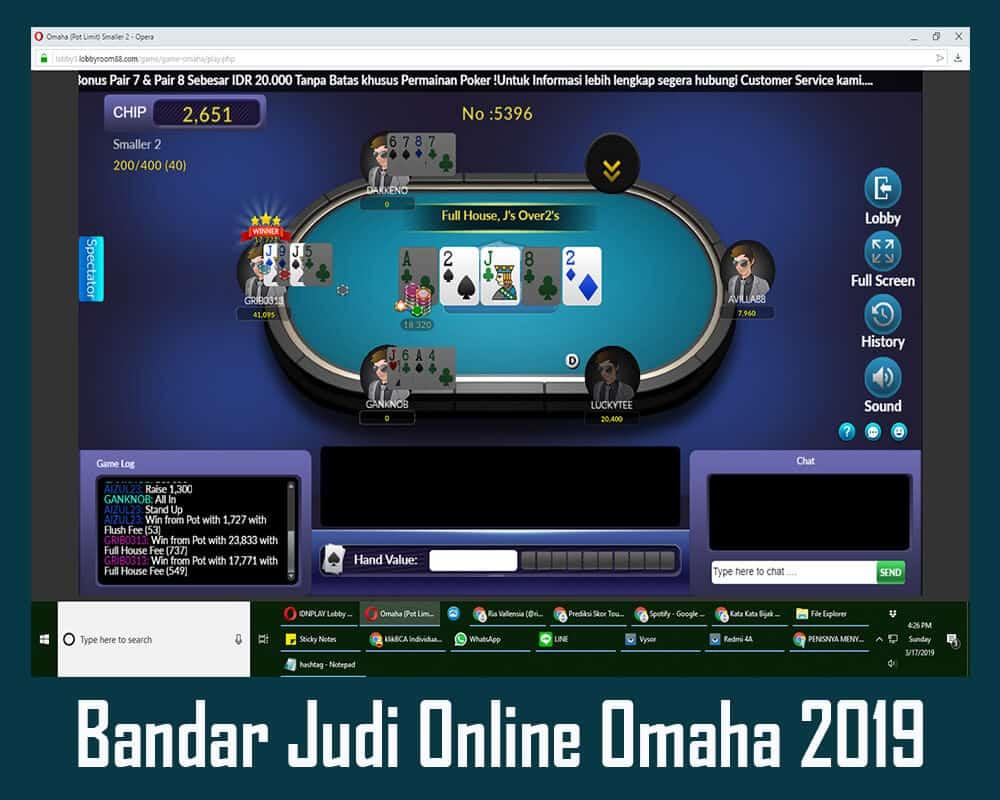 Bandar Judi Online Omaha 2019